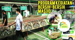 Sahabat Yamima Sukses Menyelenggarakan Kegiatan bersih-bersih Masjid Gratis