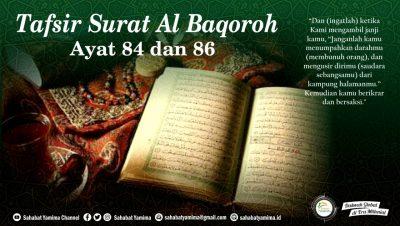 tafsir surat al baqarah ayat 84 dan 86
